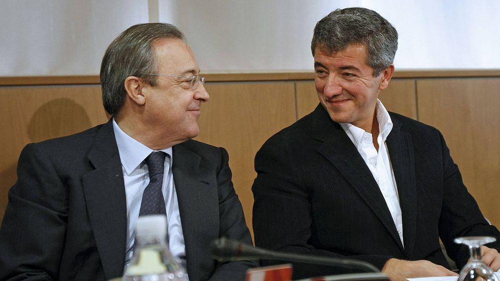 Foto: Florentino Pérez y Miguel Ángel Gil Marín en una reunión de LaLiga hace unos años. (EFE)