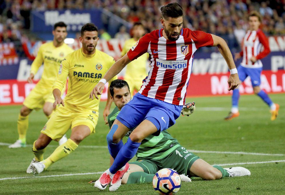 Foto: Yannick Carrasco, en acción durante el Atlético de Madrid - Villarreal. (EFE