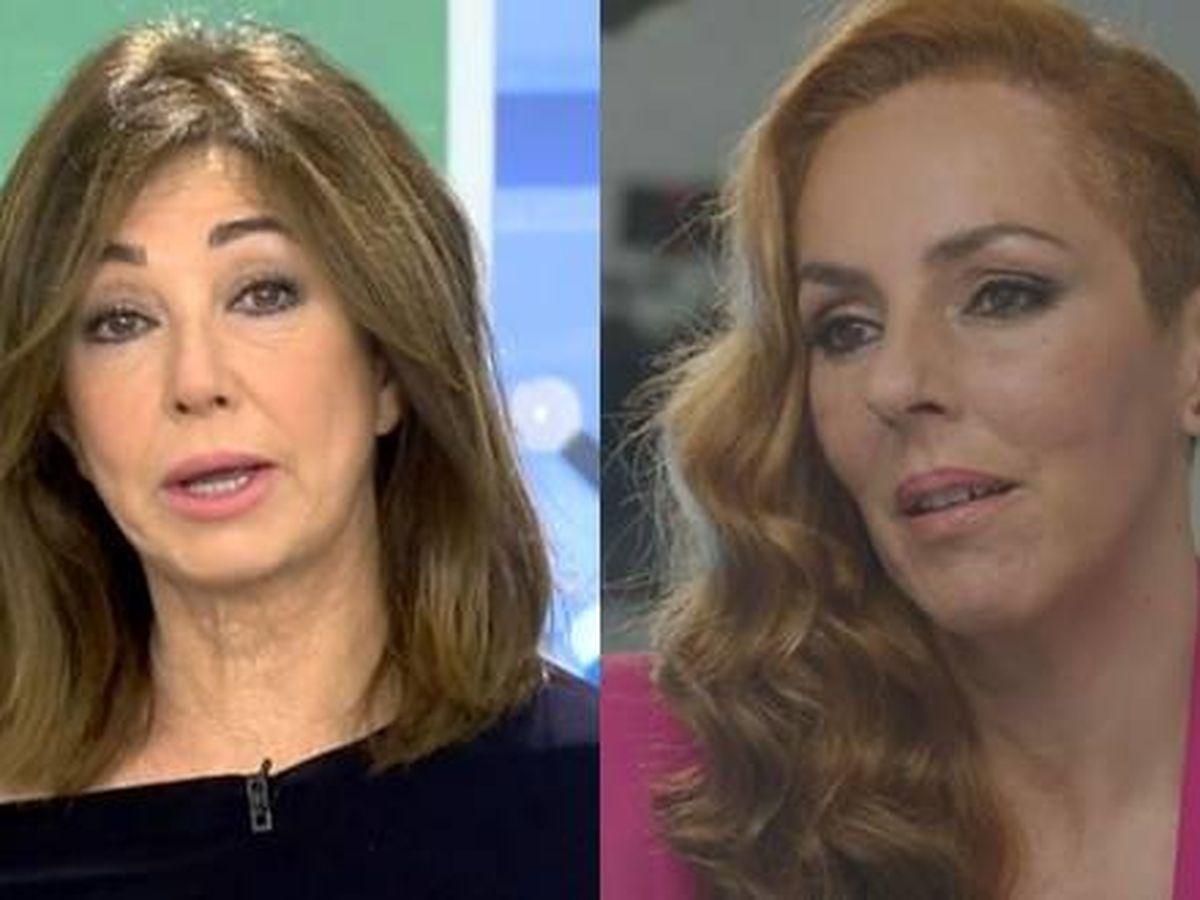 Foto: Ana Rosa Quintana y Rocío Carrasco. (Mediaset España)