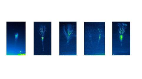 Primera fotografía de la formación de un 'jet' gigante, la mayor descarga eléctrica existente