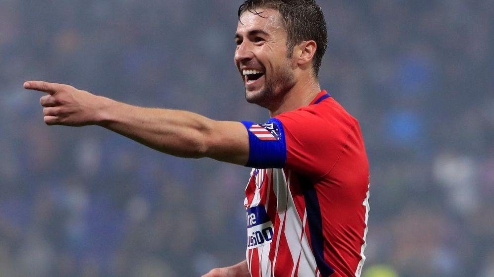 Foto: Gabi celebra el triunfo del Atlético de Madrid en la final de la Europa League contra el Olympique de Marsella. (Efe)