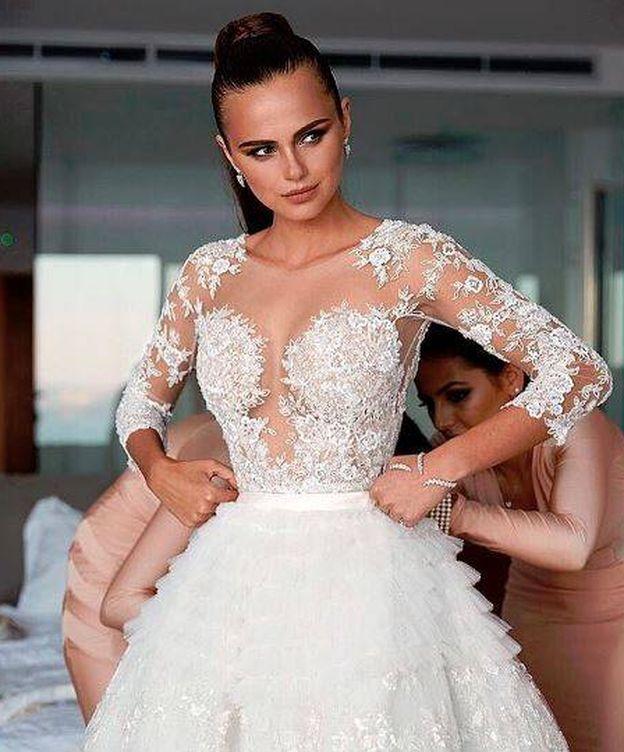 Foto: La bailarina en una imagen de la boda (Instagram)