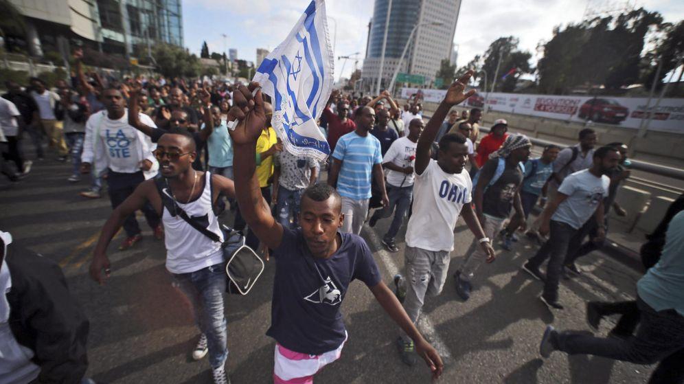 Foto: Protesta de judíos de origen etíope en Tel Aviv (Reuters)