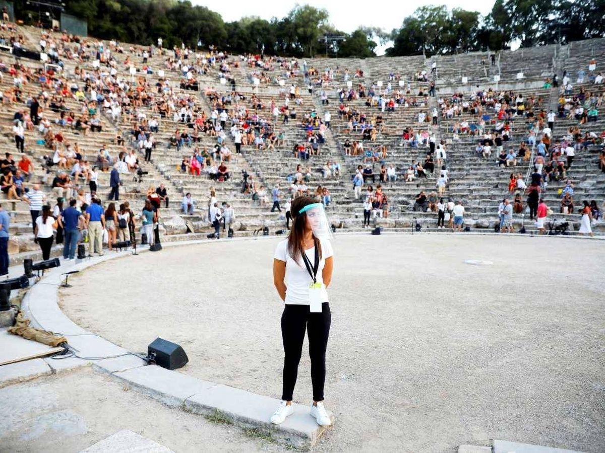 Foto: Representación teatral en Grecia. (Reuters)