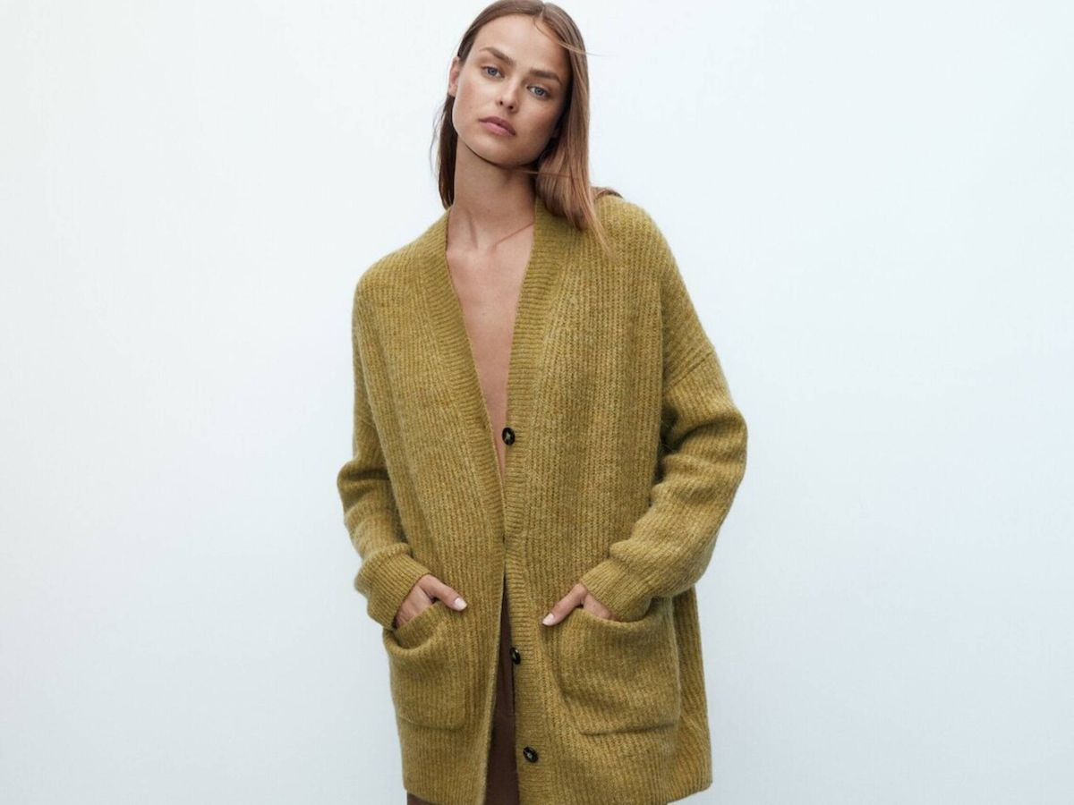 Foto: La chaqueta de punto de Massimo Dutti. (Cortesía)