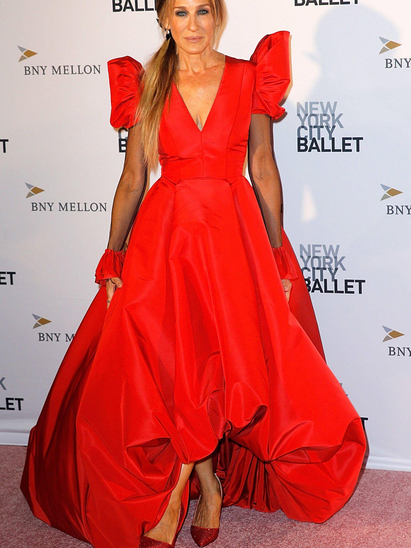 Sarah Jessica Parker acude a la Fashion Gala del ballet de Nueva York. (Getty)