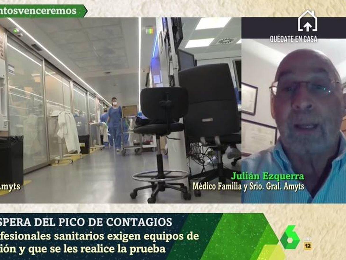 Foto: Los médicos óscar Rodríguez y Julián Ezquerra, en 'La Sexta noche'. (Atresmedia).