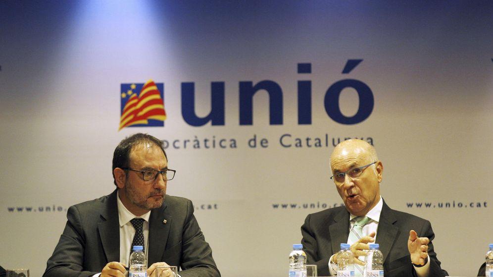 Foto: El presidente de Unió, Josep Antoni Duran Lleida (d), y el secretario general del partido, Ramon Espadaler. (EFE)