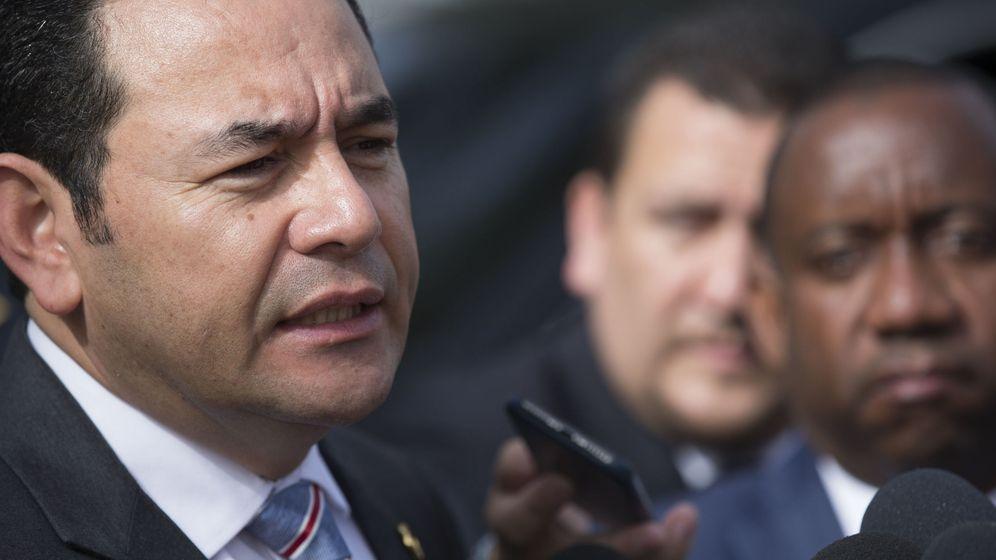 Foto: El presidente de Guatemala, Jimmy Morales, en la cumbre de la SICA | EFE
