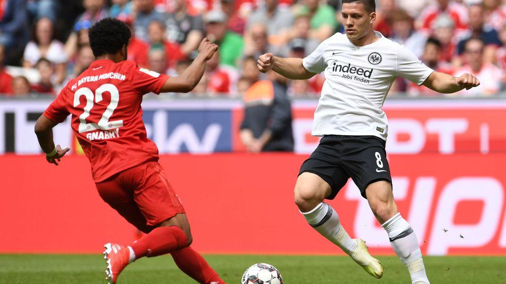Foto: Jovic con la camiseta del Eintracht de Frankfurt. (Reuters)