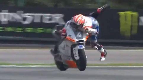 La 'salvada' imposible (a lo Marc Márquez) de Steven Odendaal en Moto2