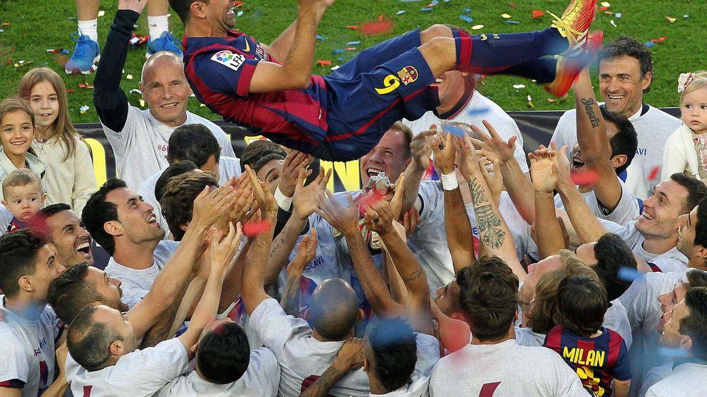 Y Luis Enrique le 'tocó las pelotas' a Xavi