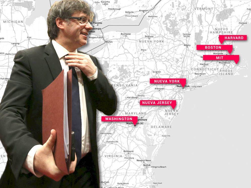 Foto: Puigdemont comienza este lunes un viaje de cinco días por cuatro ciudades de EEUU. (El Confidencial)