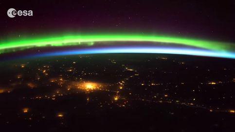 Así se ve una aurora boreal desde el espacio