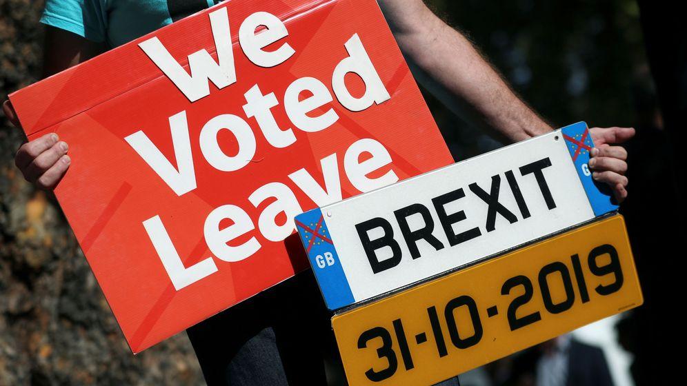 Foto: Manifestantes pro Brexit. (Reuters)