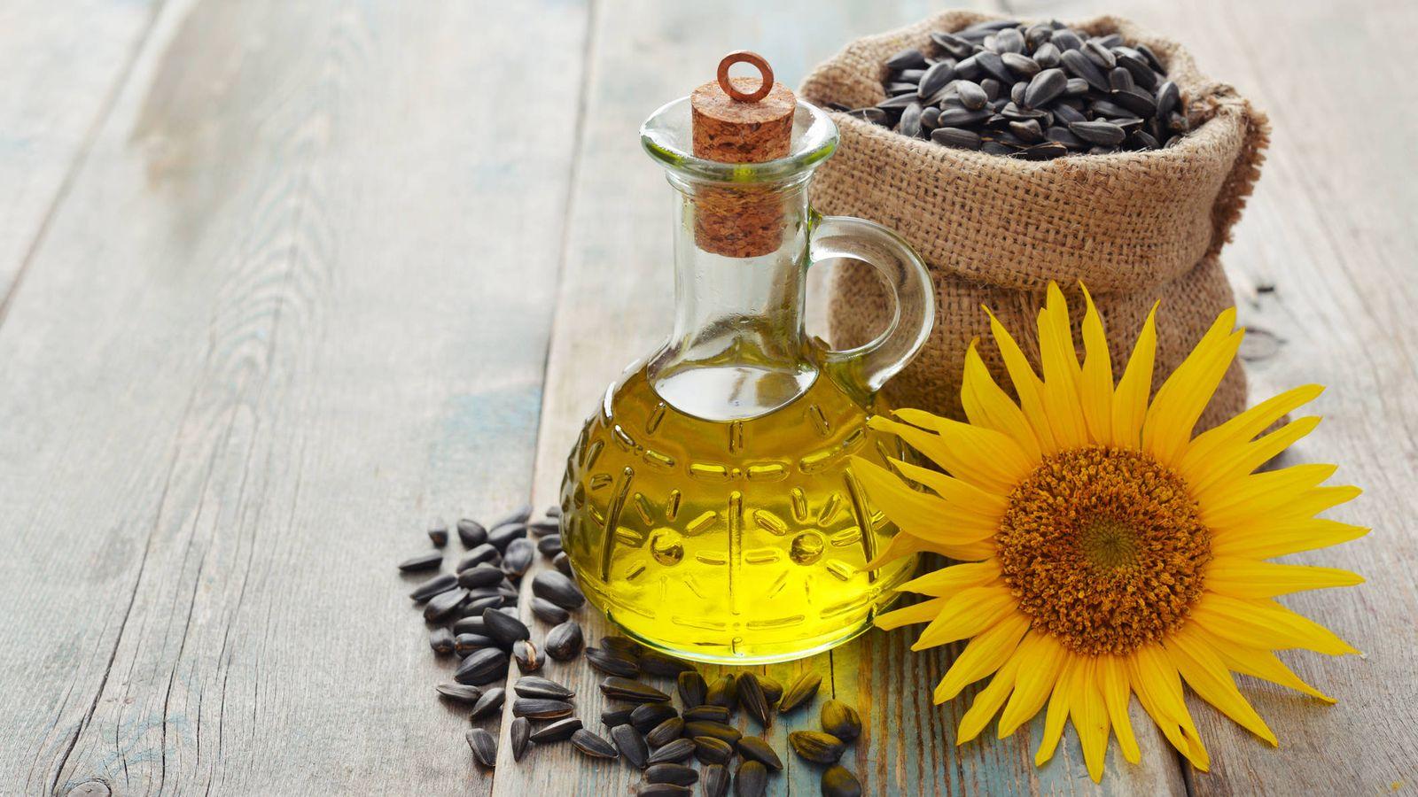 Aceites: Aceite de girasol: grasas omega 6 y vitamina E
