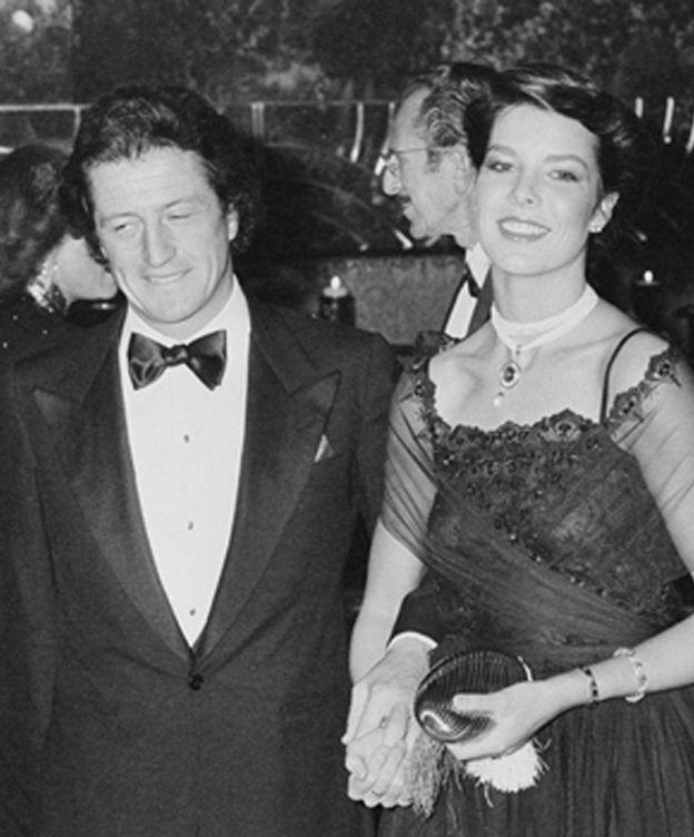 Foto: Philippe Junot y Carolina de Mónaco, en una imagen de archivo. (Getty)