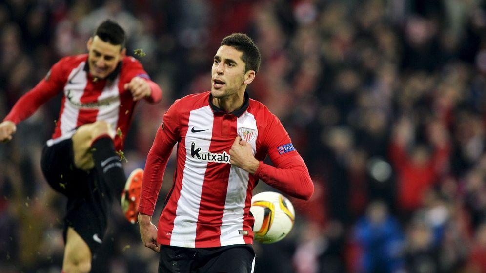 Foto: Sabin dio el pase al Athletic (Reuters/Vincent West).