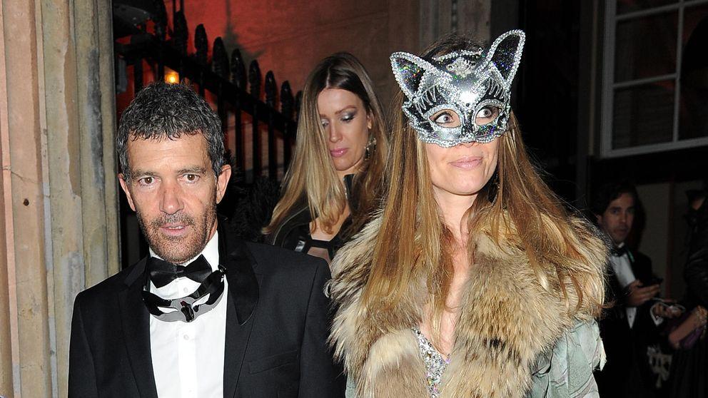 Banderas y Nicole Kimpel, una 'gata' y un 'zorro' muy enamorados en Londres