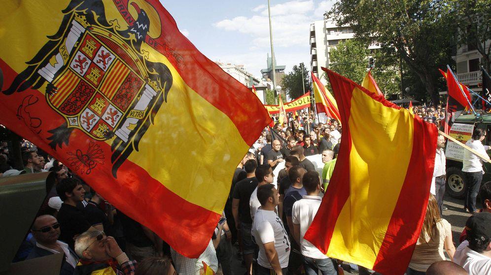 Foto: Manifestación ultraderecha en Madrid. (EFE)