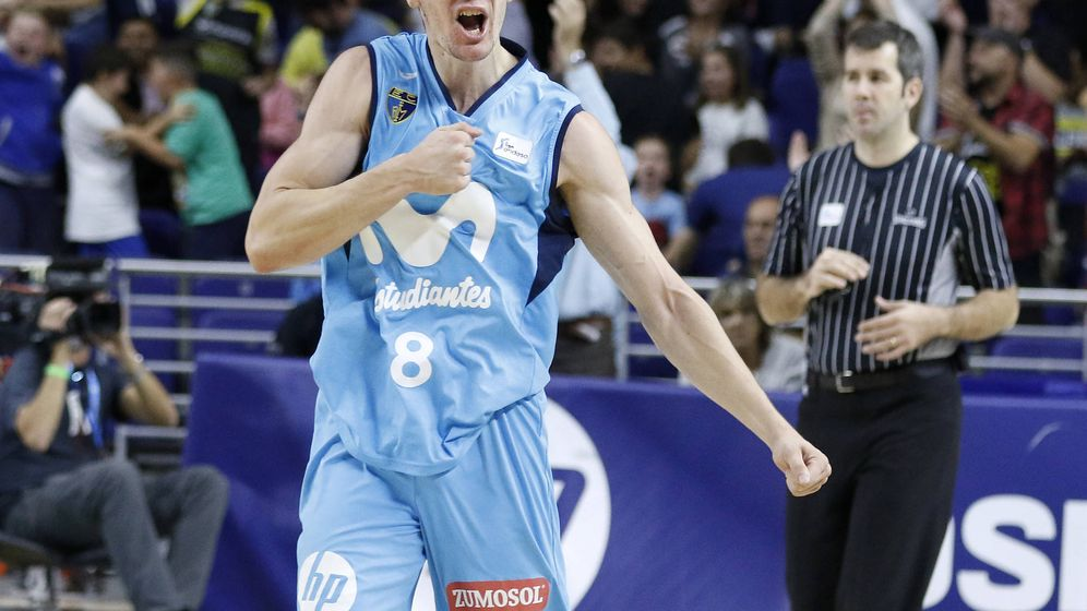 Foto: Darío Brizuela, estrella del Movistar Estudiantes. (ACB Photo/E. Candel)