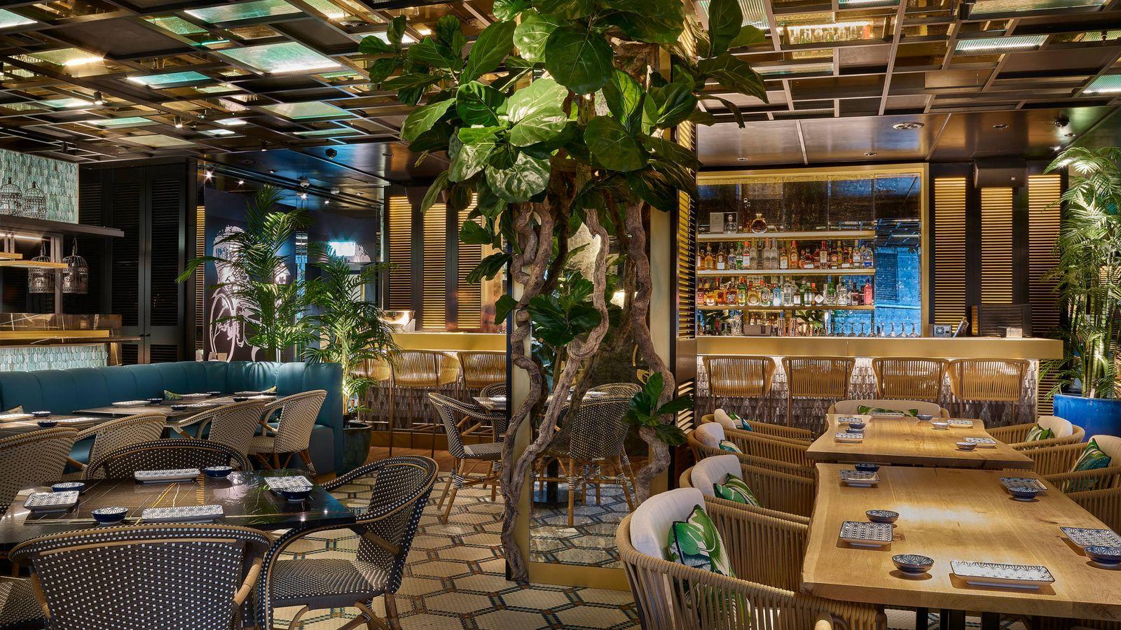 Foto: Interior del restaurante Zela Londres.