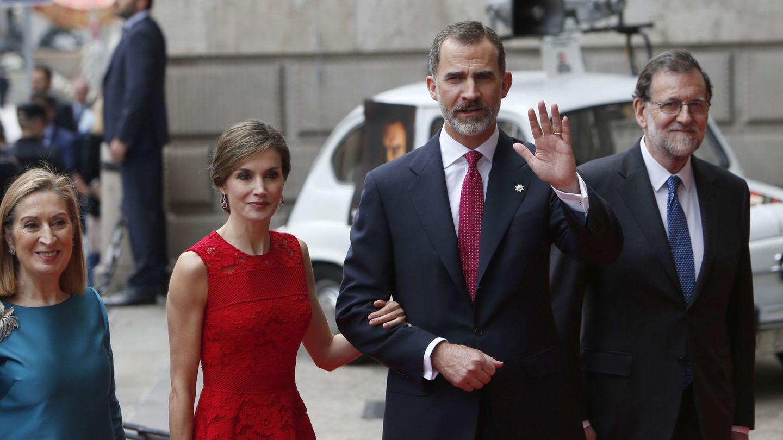 Los reyes Felipe y Letizia, en el acto conmemorativo de las primeras elecciones de la democracia. (EFE)