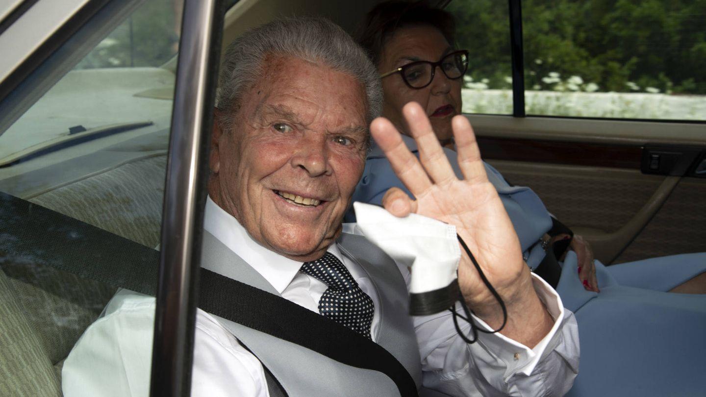 Antonio Ruiz Rodríguez a su llegada a la boda de Alejandra Ruiz Rato y Ernesto de Novales. (Gtres)