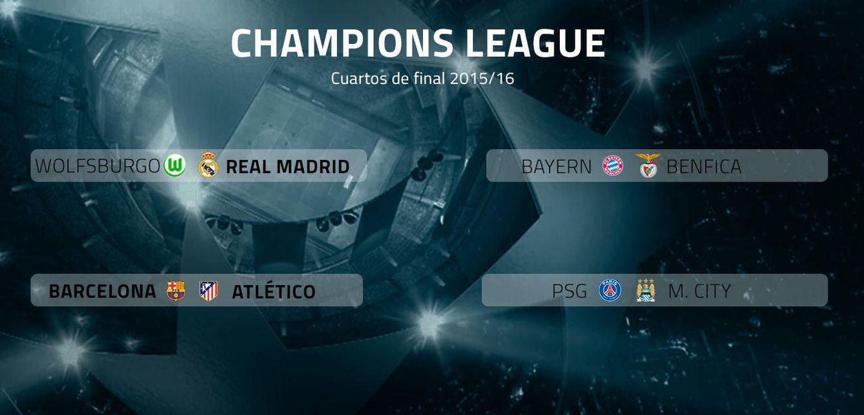 Champions league barcelona atl tico y wolfsburgo madrid for Cuartos de final champions