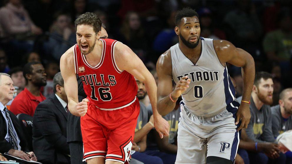 Pau Gasol rompe la mala dinámica de los Chicago Bulls con otro 'doble-doble'