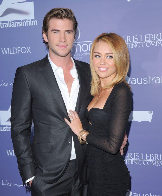 Foto: Miley Cyrus y Liam Hemsworth en una imagen de 2012