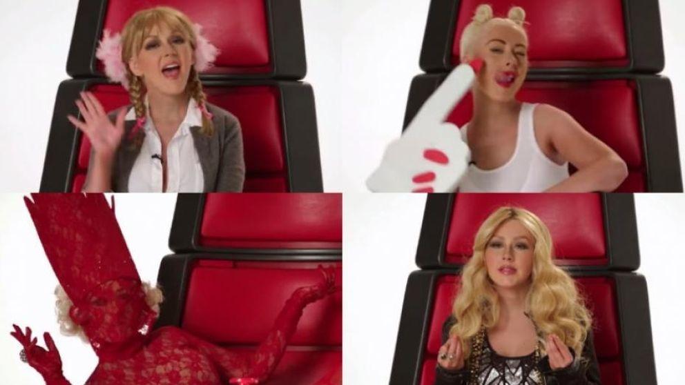 Christina Aguilera se mofa del resto de divas del pop en 'La Voz' USA