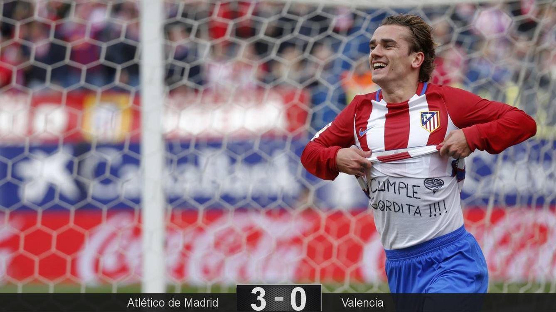 Foto: Así celebró Griezmann el primer gol en el Atlético-Valencia (Javier Barbancho/Reuters)