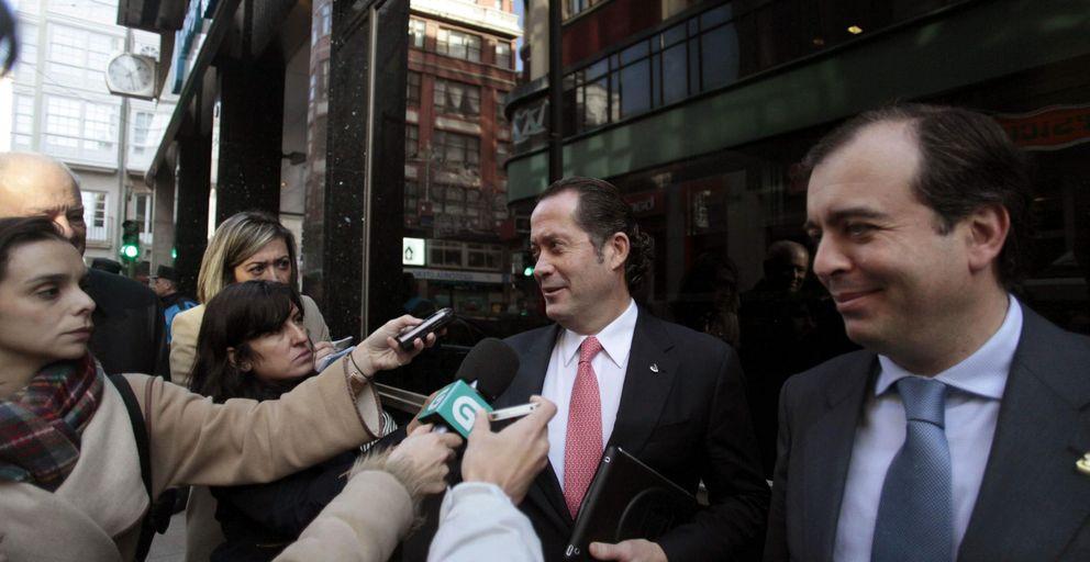 El presidente de banesco visita las oficinas de novagalicia banco en a coruña