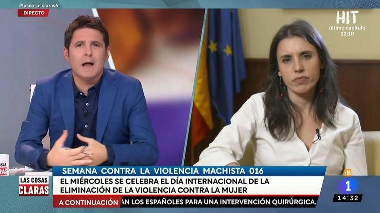 Jesús Cintora e Irene Montero. (TVE).