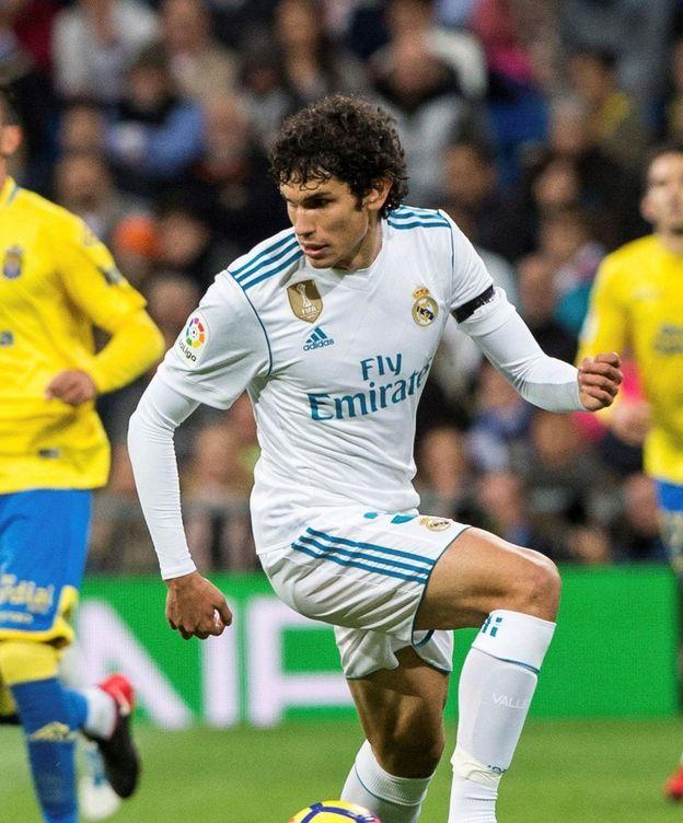 Foto: Vallejo, en su debut contra Las Palmas. (EFE)