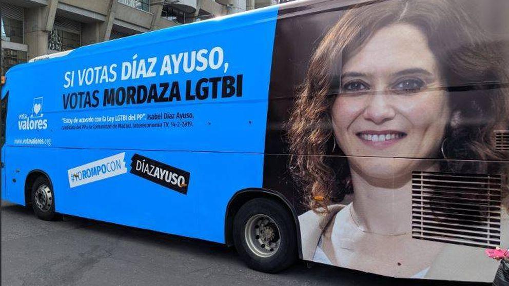 La Junta Electoral permite las vallas de HazteOir con 'Si votas Ayuso votas aborto'