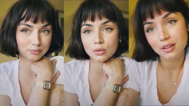 Ana de Armas, en el vídeo de Claudia Muma. (YouTube)