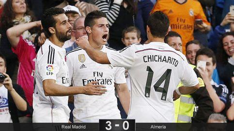 El 'zapatazo' de James brilla por encima de un Madrid sin chispa ante el Almería