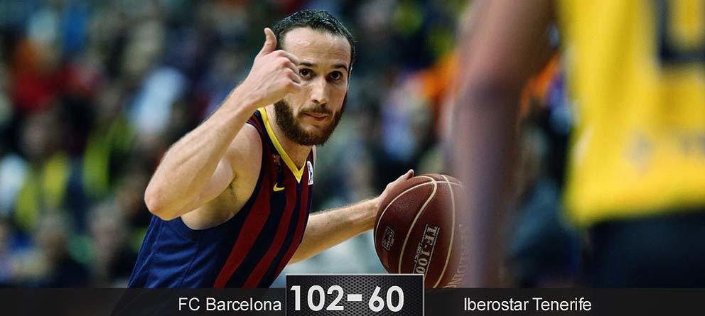Foto: El Barcelona apabulla al Tenerife por 42 puntos de diferencia