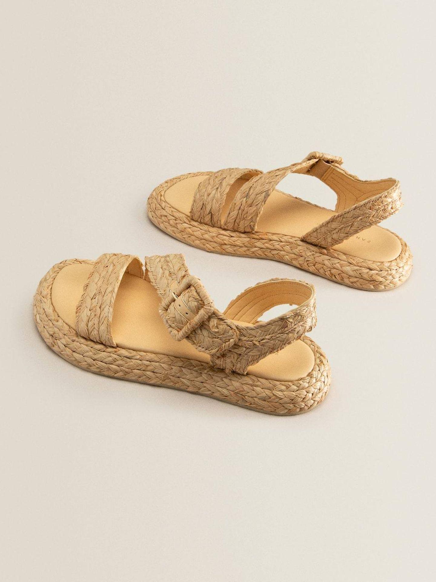 Las nuevas sandalias de Zara Home. (Cortesía)