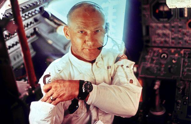 Foto: Buzz Aldrin, el piloto del módulo lunar