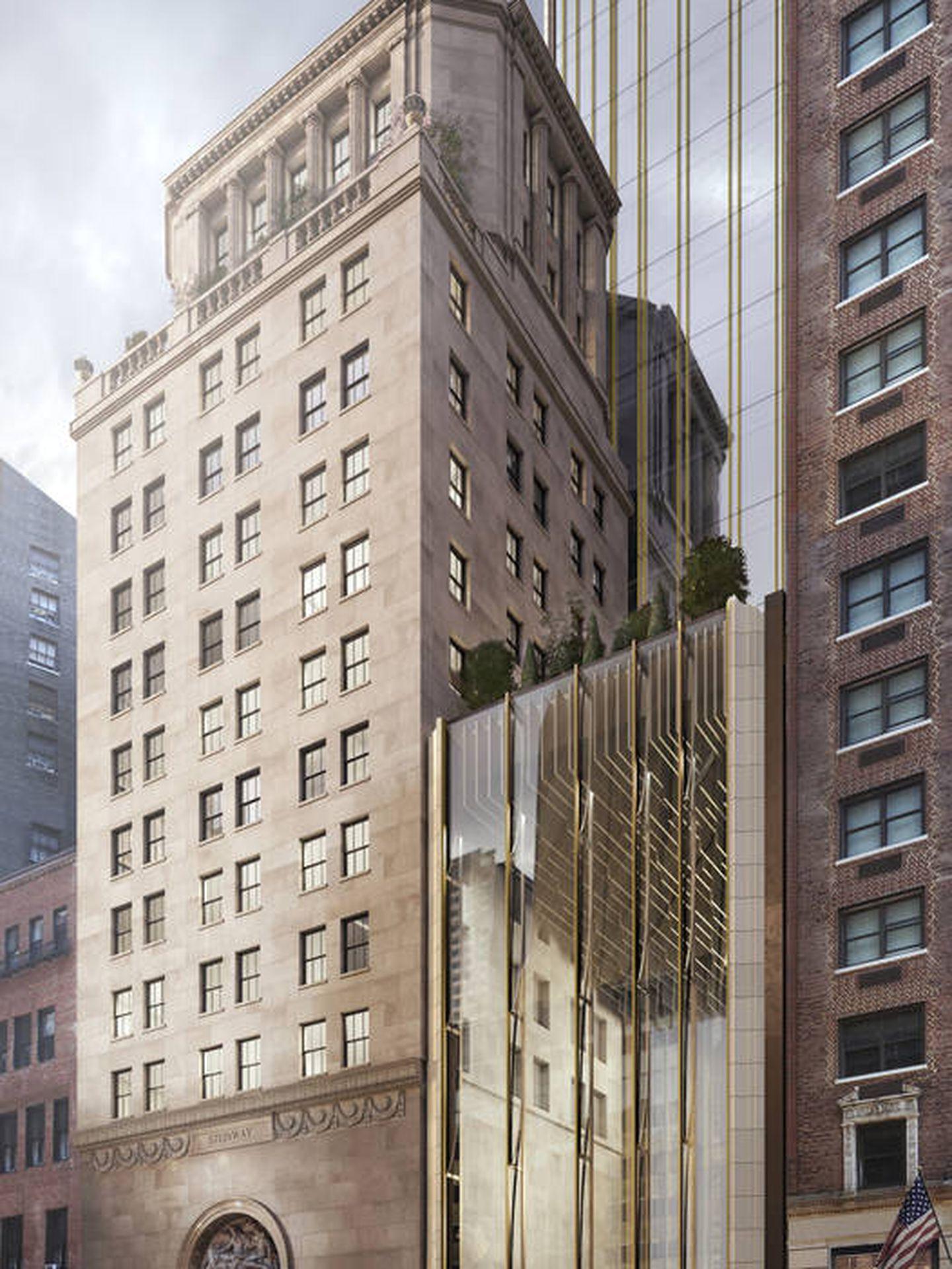 Utiliza un material auténtico de la época dorada de los rascacielos de Manhattan: la terracota. (Shop Architects)