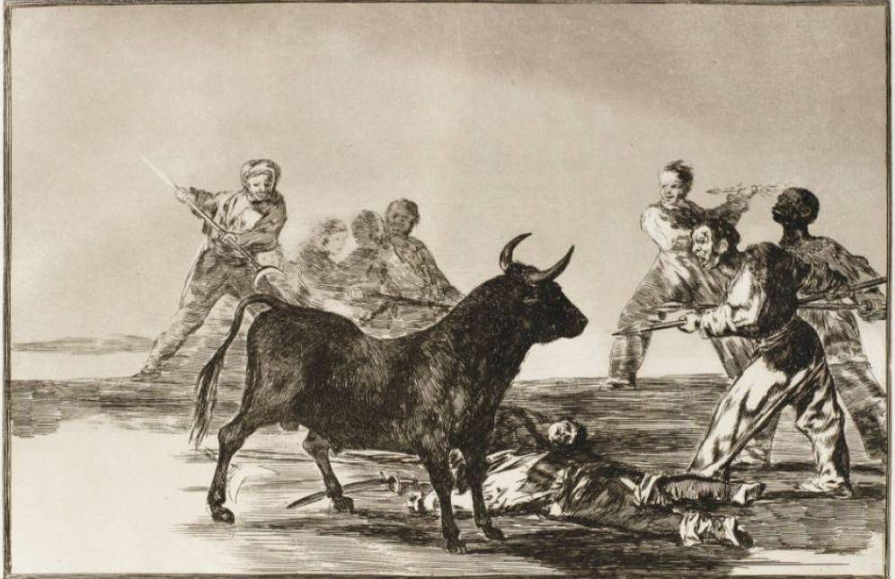 Foto: Grabado de 'La tauromaquia', de Francisco de Goya.