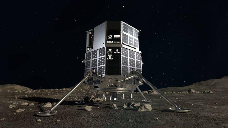 Este es el 'lander' HAKUTO-R que llevará en su interior el rover (JAXA)