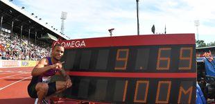 Post de La impresionante marca, con viento, de De Grasse en los 100 metros: 9,69