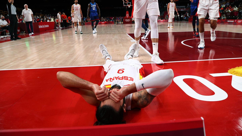 Ricky Rubio, tras una acción defensiva. (Reuters)