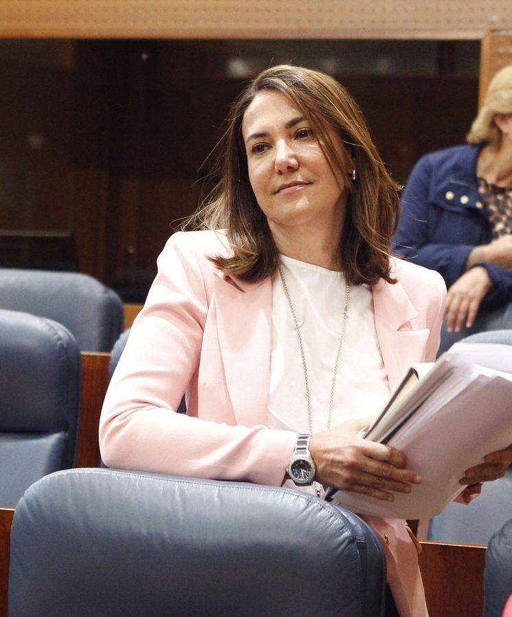 Foto: La diputada del PP en la Asamblea de Madrid, Isabel González, hermana del expresidente de la Comunidad Ignacio González. (EFE)
