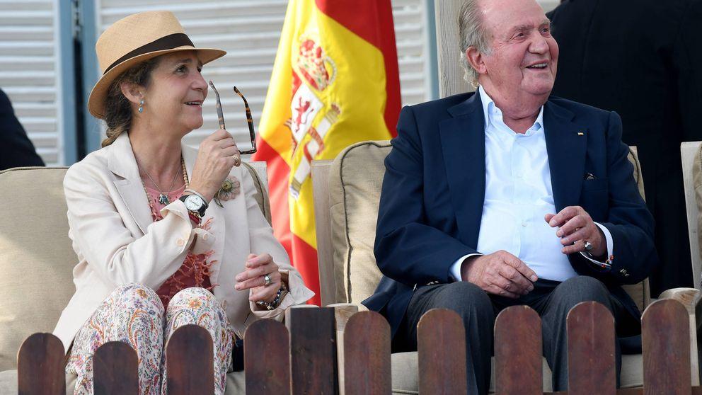 Papá, Elena y los nietos: los 'royals' que sí fueron vitoreados este fin de semana