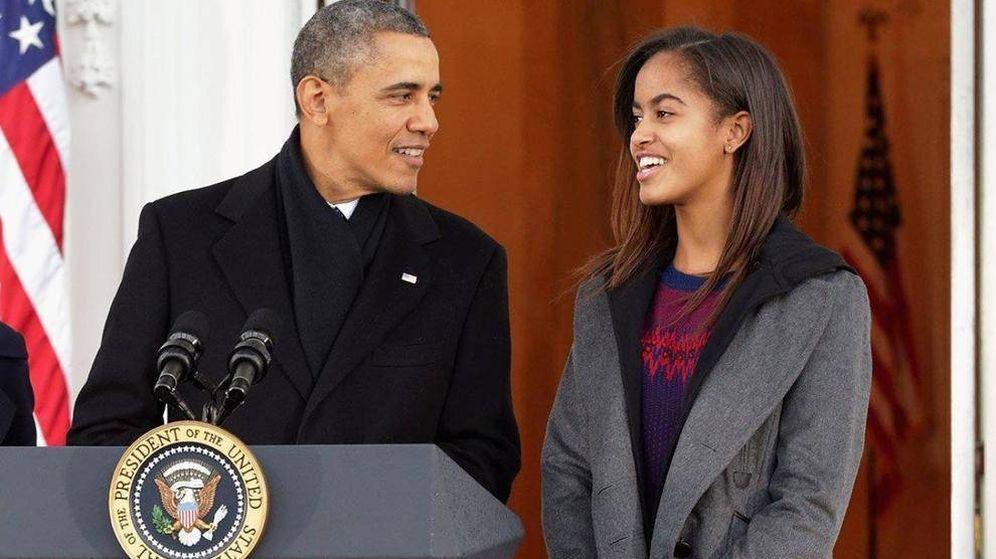 Foto: Barack Obama y su hija mayor, Malia